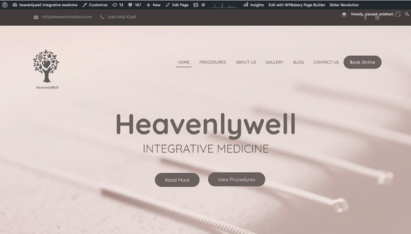 Medical Website Sample